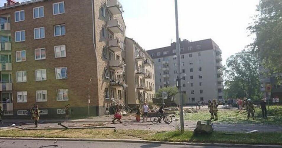 Έκρηξη σε συγκρότημα κατοικιών στην Σουηδία