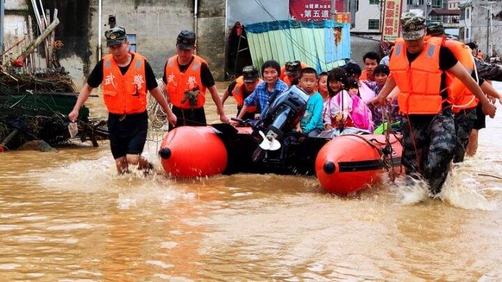 Τουλάχιστον 19 νεκροί εξαιτίας εκτεταμένων πλημμυρών στην Κίνα